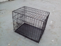 24' dog training crate with ABS tray TWO doors powder coated pet crate