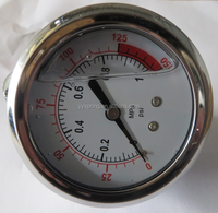 0-10mpa/150psi stainless steel oil filled wika vacuum pressure gauge