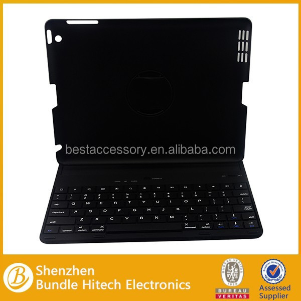 Best design good quality for ipad 2/3/4 keyboard case, 360 degree rotate case for ipad 2/3/4