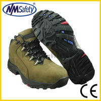 NMSAFETY rubber cement sole working shoes with steel toe cap nubuck leather high quality
