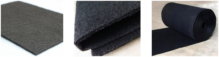 Mask use activated carbon felt for benzene removal