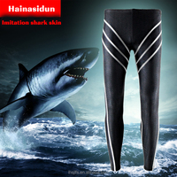 Professional design shark skin sports swimwear/long waterproof men beachwear/fashion design man rash guard