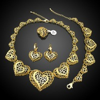black crystal jewelry set,african beads jewelry set turkish silver plated jewellery