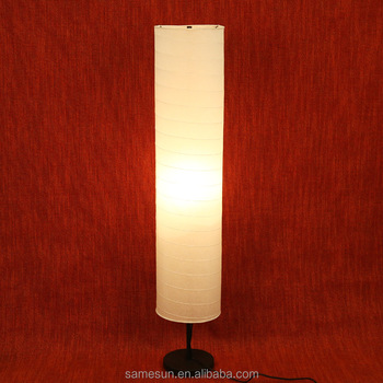 Modern cylinder warm lighting paper floor lamp lampshade for indoor decoration