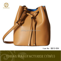 Fashion elegant PU leather cheape bucket bag