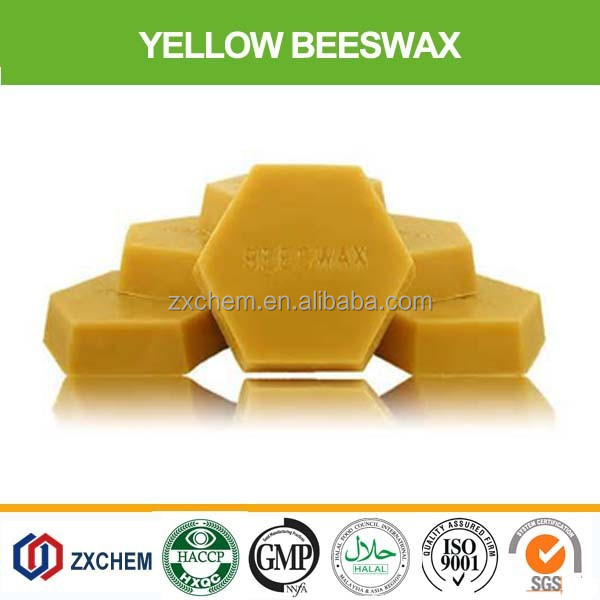 100% Nature refined of cheap yellow beeswax
