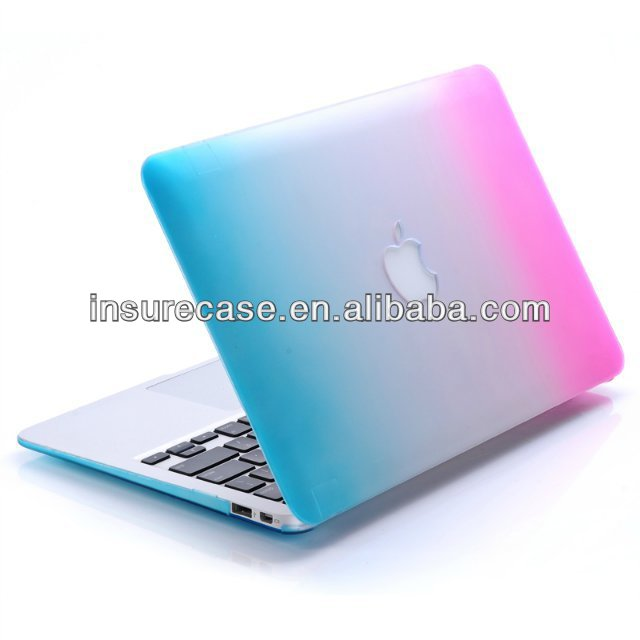 Laptop case for Macbook air 11'',2014 New Gradients Colorful hard crystal rubberized laptop case for Apple Macbook Air 11''