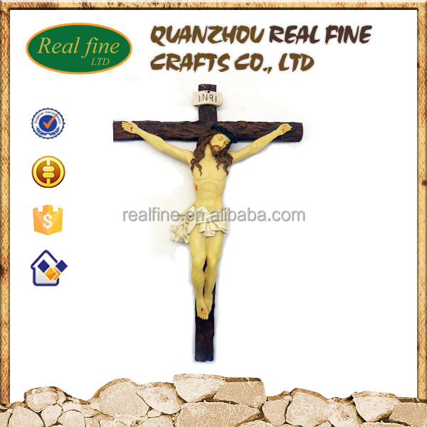 wholesale resin religious jesus crucifix cross figurine crafts