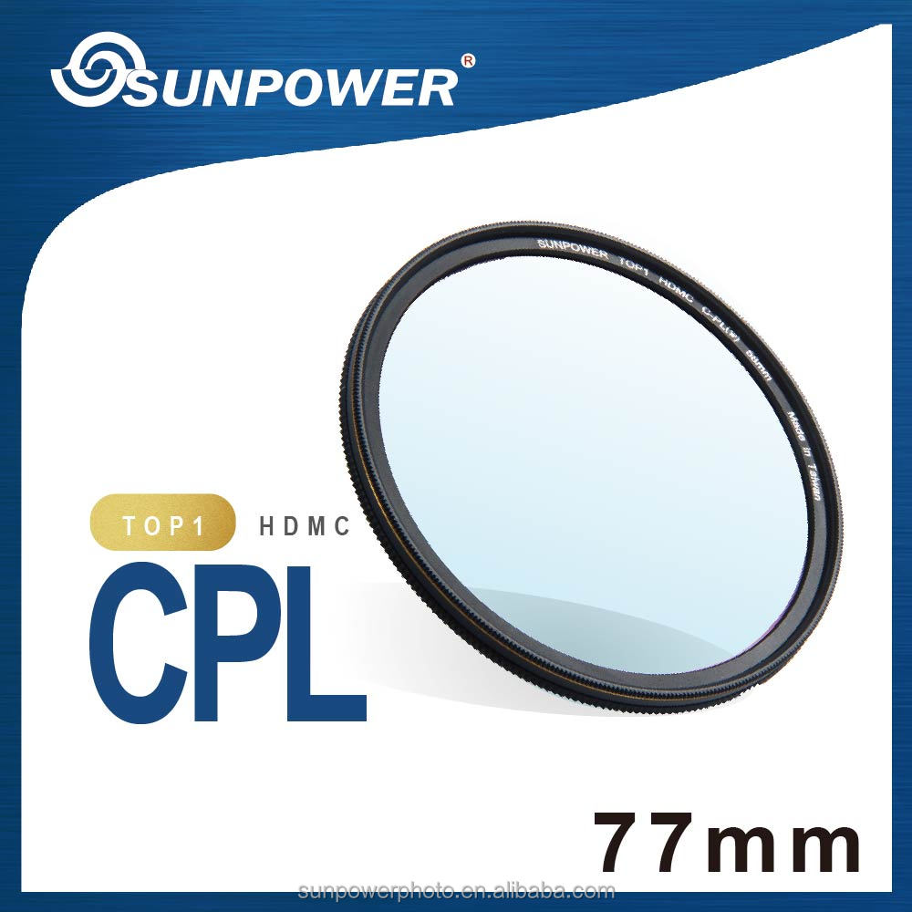 SUNPOWER TOP1 MIT professional HDMC CPL 77mm camera Lens Filter for Canon Nikon