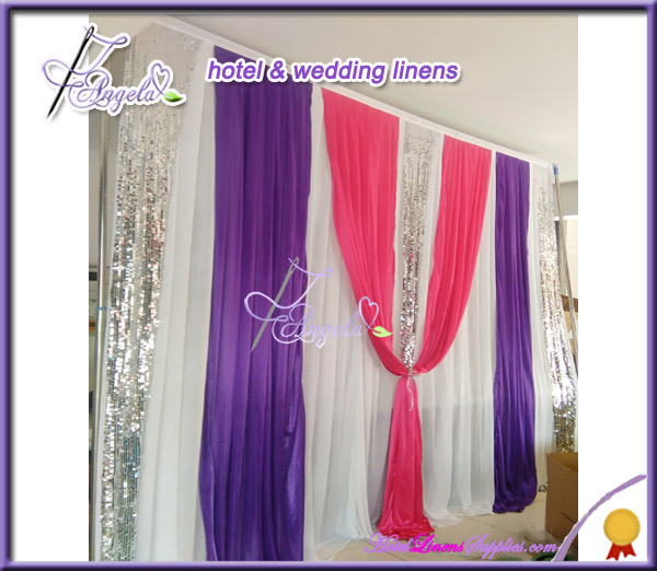 300*300cm Wedding Backdrops For Party <strong>Decoration</strong>, backdrops for wedding events with shiny silver sequin