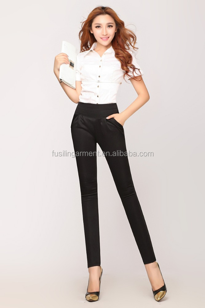 Sexy Tight Ladies Hot Pants Black Color Plus Size Women Pants