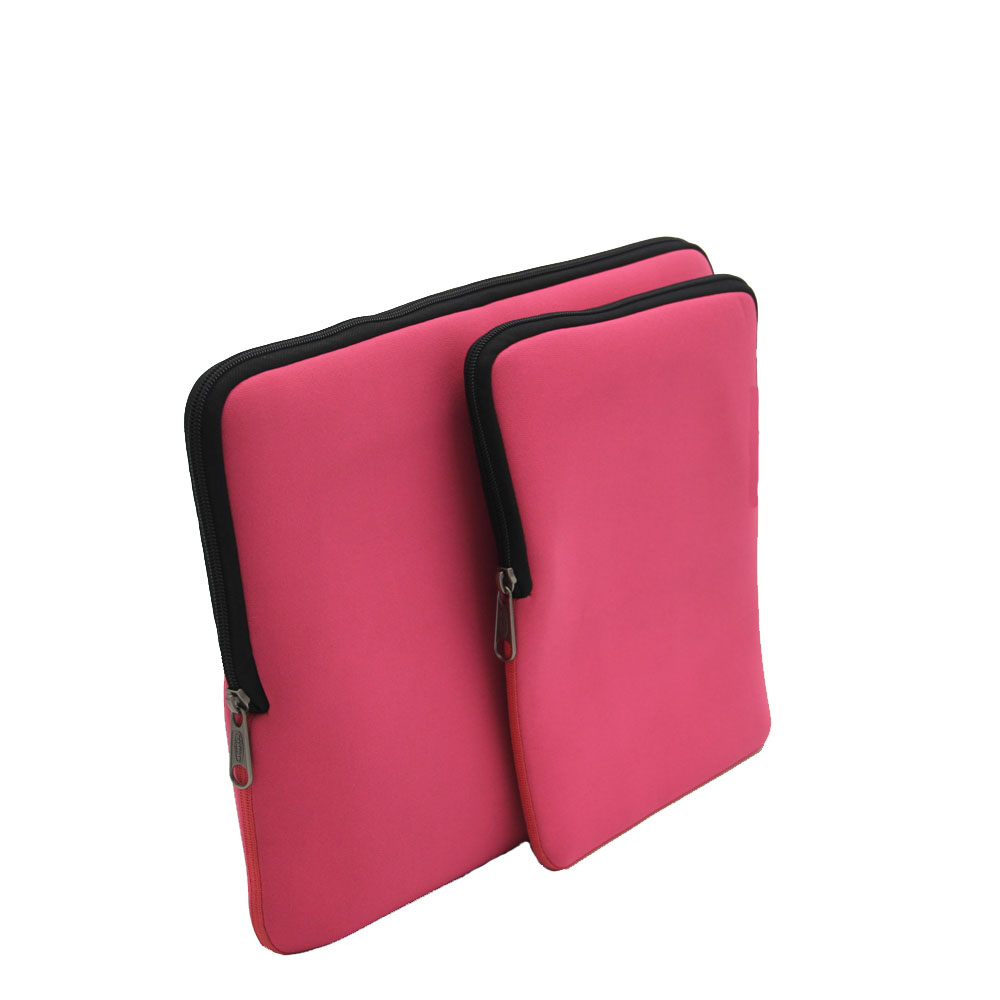 Fashionable Popular Basic Computer Bags Sleeve Case Cover Pink Notebook Neoprene Laptop Bag for Ipad