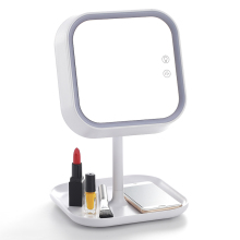 2-in-1 Makeup Mirror Vanity Mirror with LED light and Table Lamp for Bedroom Bathroom Travelling with USB Cable