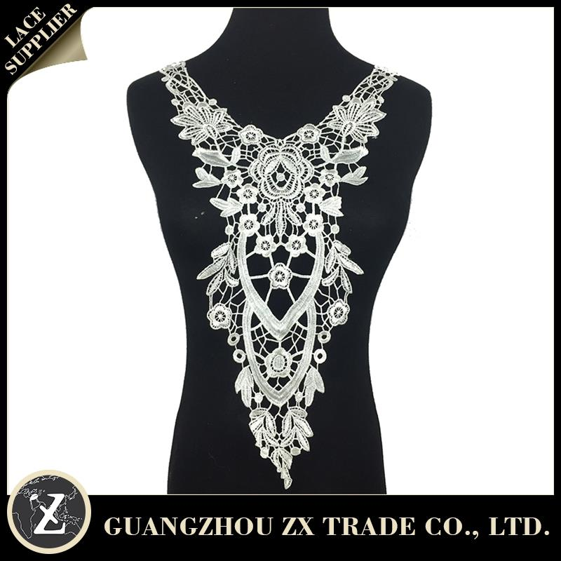 embroidery collar lace/ indian george/ lace appliques wholesale