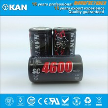 KAN ROHS Certified 1.2V SC 4600mAh rechargeable Ni-MH battery for universal rc car remote control, rc model, airplane , boat