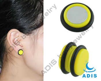Newest Acrylic Non-Piercing Ear Plug Fake Plug