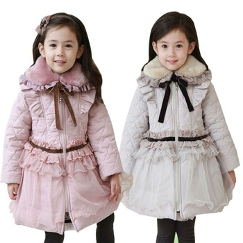 Wholesale Little Girls Fashion Winter Coats Baby Winter Coat