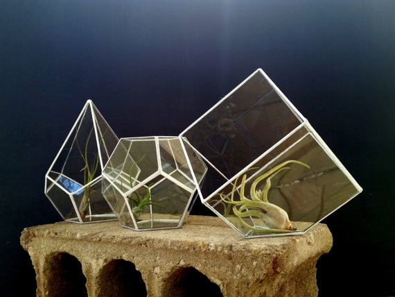 Geometric Stained Glass Planter Terrarium