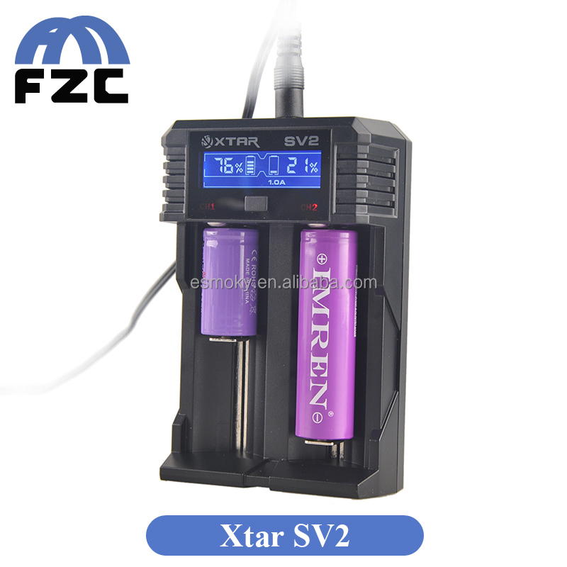 Alibaba Wholesale China Supplier Newest Fast-Charging Charger Two Bay Charger 4 Currents Original Xtar Rocket SV2 Charger