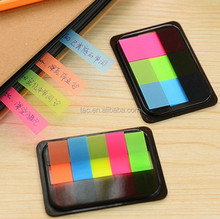 Memo pad set with PET sticky note, customized shape note pad, PET Printing Full Colors Index