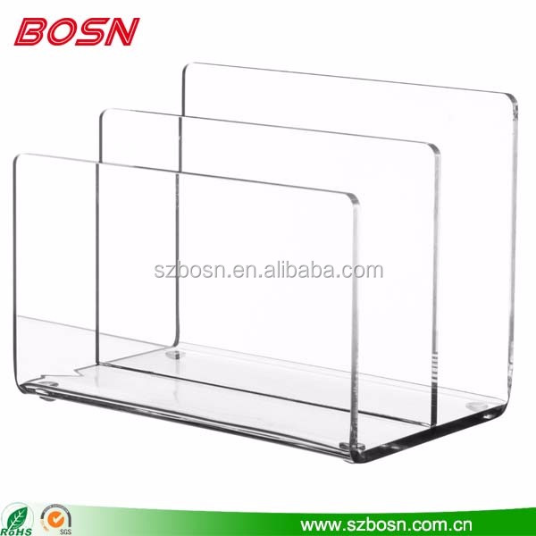 Handcrafted of Premium acrylic tabletop sign holders file sorter stands