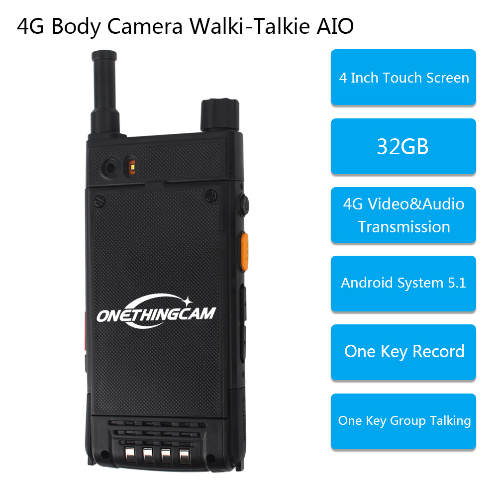 P09 MOQ 300  4G Body Worn Camera Add Walkie Talkie Hot Selling  live streaming video  for police surveillance