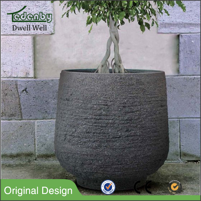 light weight concrete planter bos clay flower pots