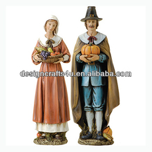 Thanksgiving Roman Couple Pilgrim Figurine