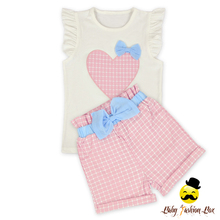 66TQZ439 Yihong Vest Tank Top Children Valentine Girls Clothing Easter Baby Smocked Outfit Sets
