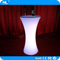 Modern outdoor plastic led bar furniture bar stool high bar table