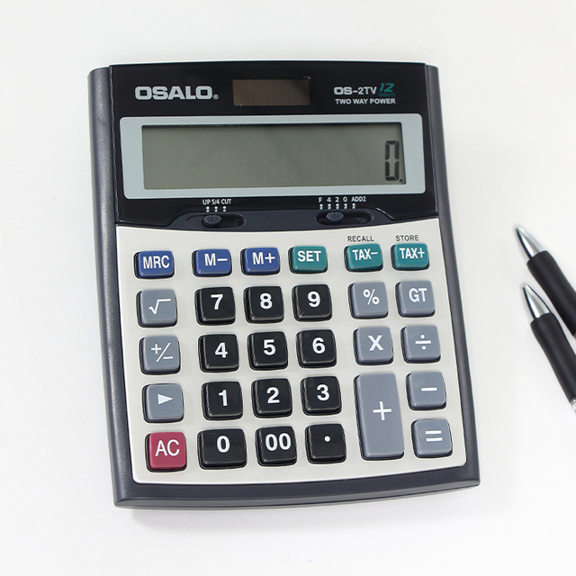 OSALO OS-2TV electronic digital calculator tax calculator 12 digit