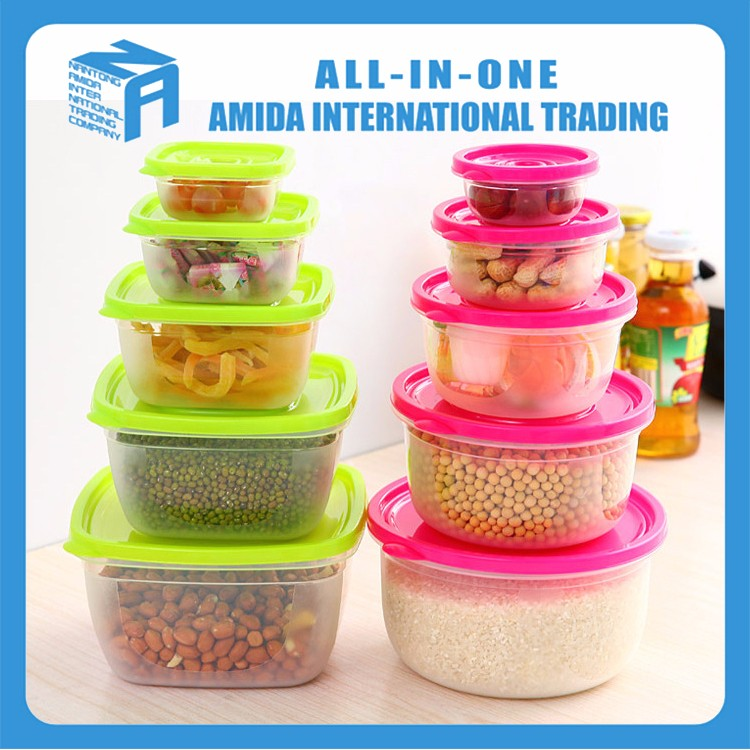 Home Appliance Wholesale Colourful Printed Plastic Food Storage Container