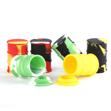 JL-006E Glow In the Dark Concentrate Silicone Jars Dab Wax dab jar