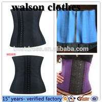 Walson Vedette 403 Shapewear Waist Cincher Girdle Zipper Faja Colombian Corset Latex Trade assurance $