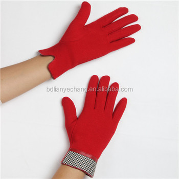 christmas gifts wholesale red colour Driving Gloves Touch Screen Gloves Cashmere Texting Capacitive Smartphone