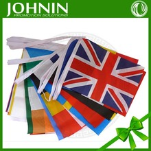 hot sale decorative JOHNIN brand high quality cheap world flags decorative outdoor bunting flags