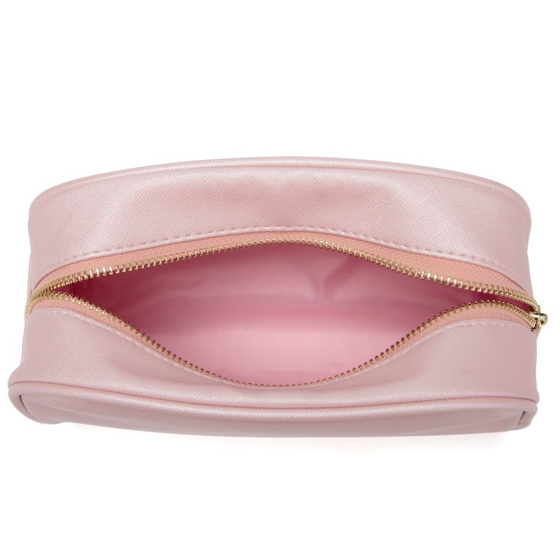 leather makeup bag -Custom fashion travel leather makeup bag