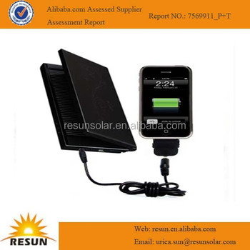 Portable rechargeable solar mobile charger for mobile phone