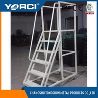 Multi-functional metal portable warehouse ladder