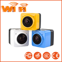 Wireless Cube 360 H.264 1080P Sports Action Camera WIFI Build in Panorama Cube 360 Mini Camera