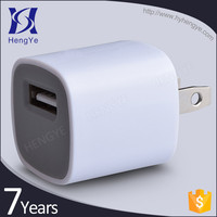 High quality single usb power charger 5v 1a ac wall charger usb for iphone5s