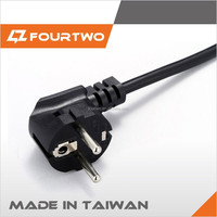 Made in Taiwan hungary power cord,iceland power cord,india power cord
