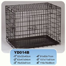 Small and medium sized dog can fold wire dog cage.