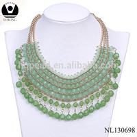 Latest design beads necklace jewelry fashion costume spain jewellery