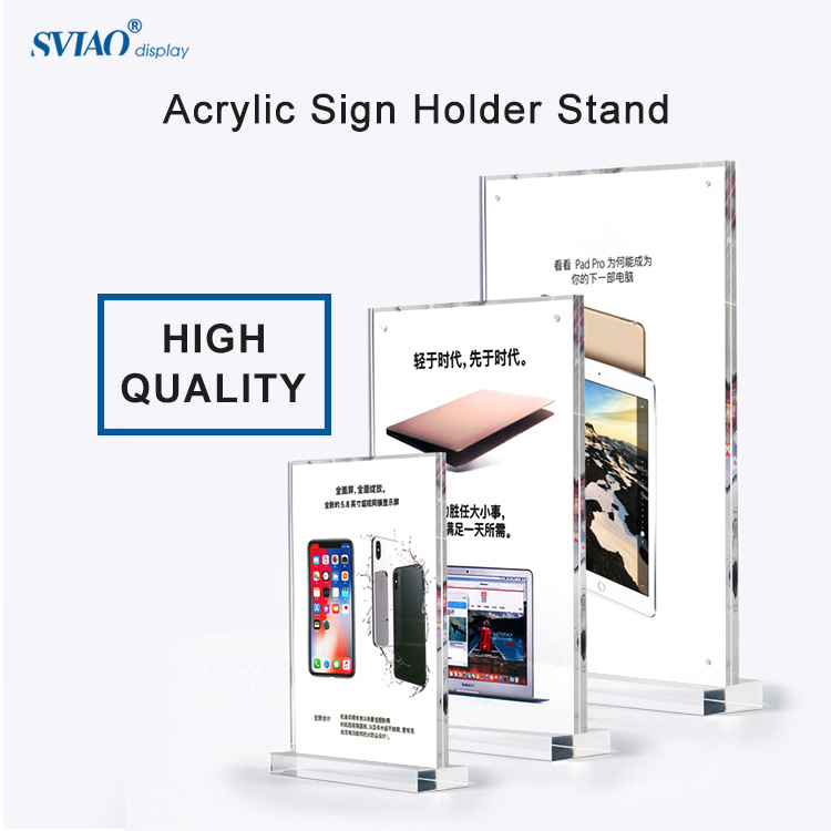 Card Holder & Note Holder Reasonable A4 Vertical Wooden Menu Card Frame Stand 210*297mm Sign Holder Acrylic Price Tag Display Rack Advertising Poster Frame Photo Attractive And Durable