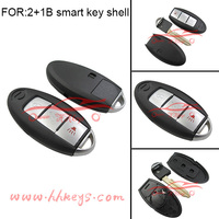factory direct 2+1 button with panic New flip remote car key cover for n-issan remote key shell