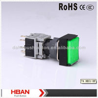 CE RoHS HBS1-BJ series NONC,IP65 momentary,(RESET) plastic push button switch 120V with LED illumination