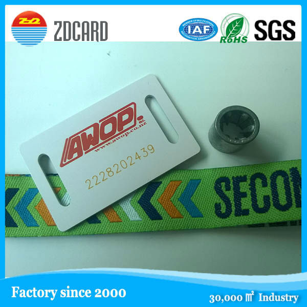 China factory 2105 new woven event id wristbands