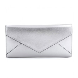 Lady Envelope Evening Metallic Leather Clutch Bag Woman Hand Bag Manufacturer