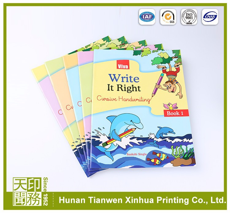 Custom coloring international edition educational textbooks printing